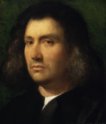 Giorgione, Portrait of a Man ('Terris Portrait'), 1506.   Oil on panel. 30.2 x 25.7 cm. The San Diego Museum of Art. Gift of Anne R. and Amy Putnam 1941.100. Photo © The San Diego Museum of Art,   http://www.sdmart.org
