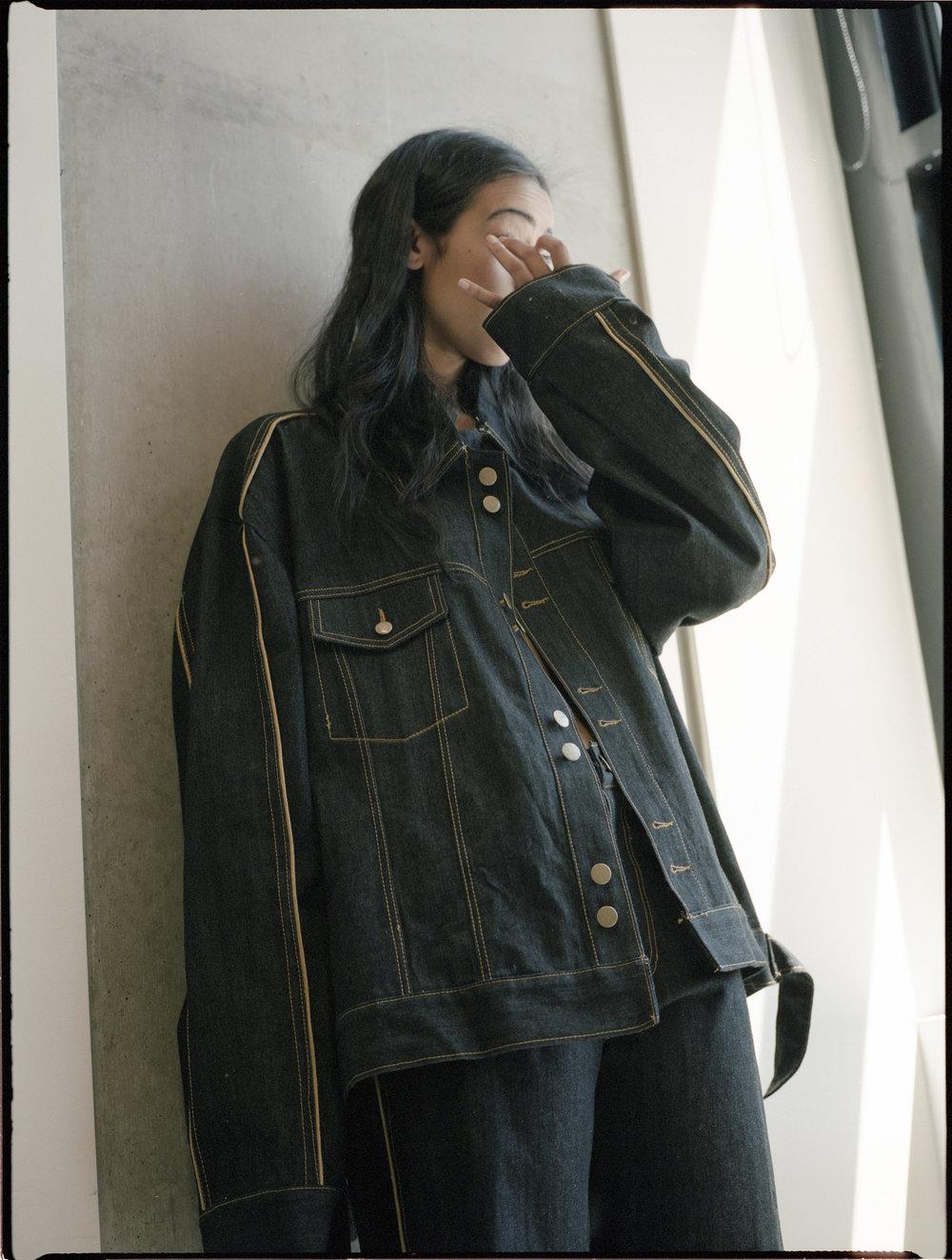 Denim jacket and jeans ALEXANDRA KIRWOOD.