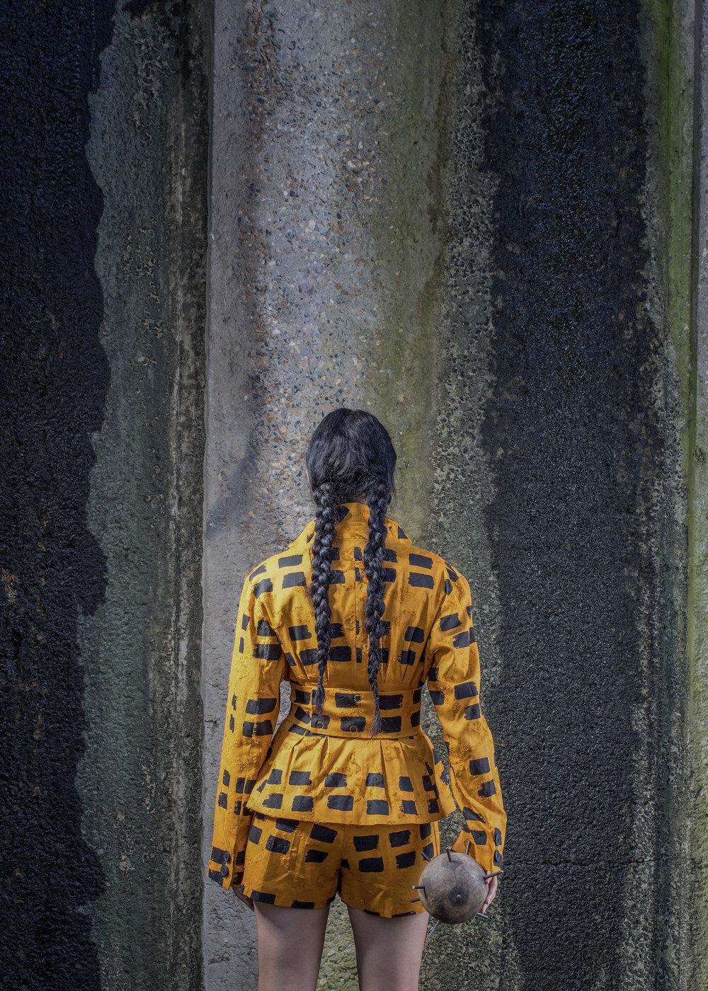 Virgin wool squiggle print jacket and shorts VIVIENNE WESTWOOD.