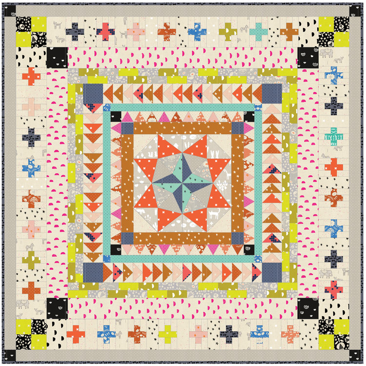 Marcelle Medallion — Green Bee Design and Patterns : medallion quilt pattern - Adamdwight.com