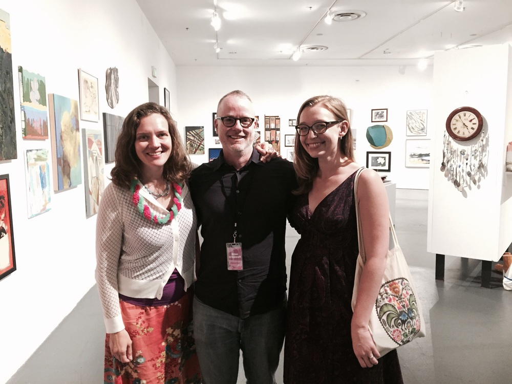 Brian O'Donnell with Creative Alliance's KJ Mohr and Samantha Mitchell