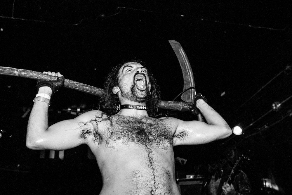 "R.I.P., 2017. Frontman Fuzz recently dubbed R.I.P. the ""heaviest, hairiest, horniest and most horrifying band playing right now, period."" We are inclined to agree. Plus, his use of the adjective ""horny"" really got us psyched, as it's been in the Denver lexicon for years now (Thanks, Laina) and we strive to make the world a hornier place. R.I.P. is returning this year - we hope to see you dirty freaks up front."