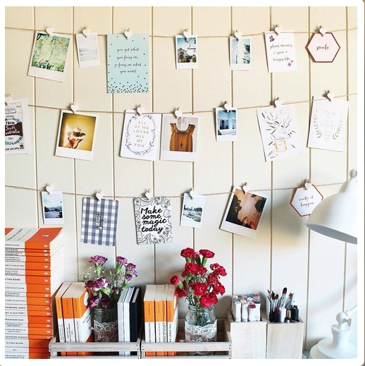 What a simple and effective way to display inspirational images.
