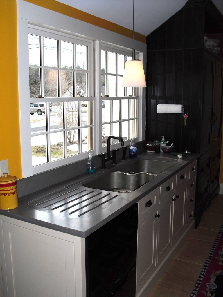 Concrete Counter Zinc Sink