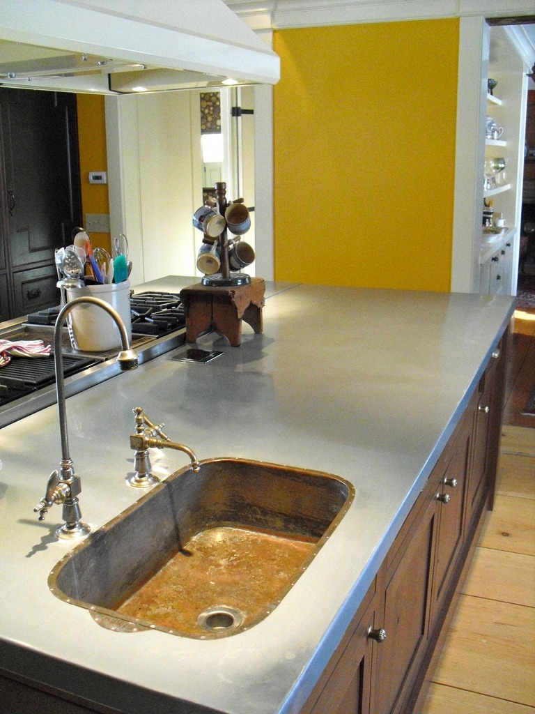 Zinc Countertop Copper Sink
