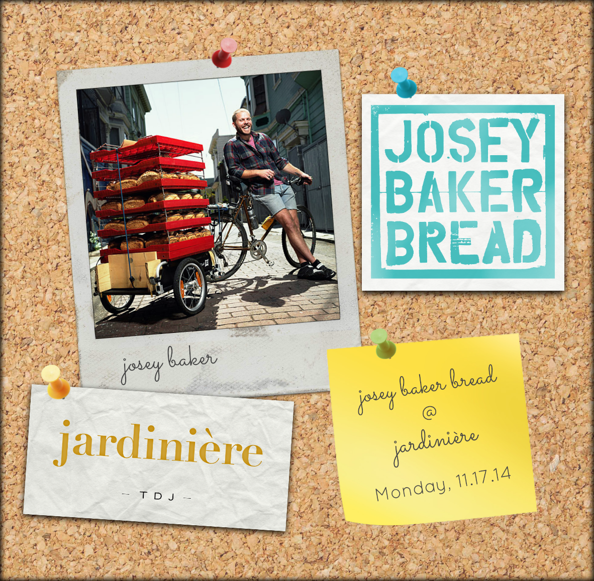 Josey Baker collage for Jardiniere