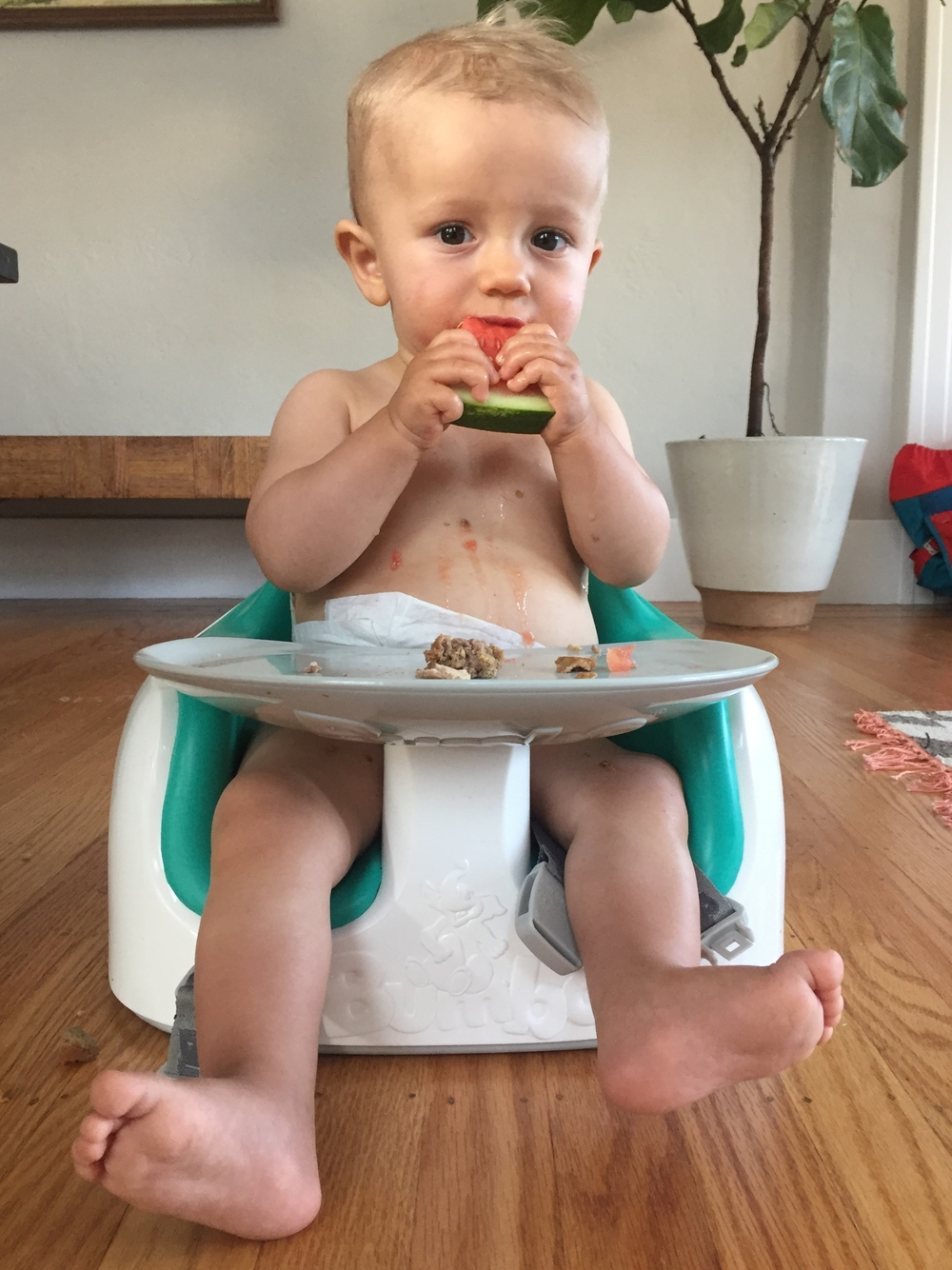 """watermelon tastes good, i may be small but i'm not an idiot."" -Cassady (he didn't say that, he can't talk, he's only 1 year old)"