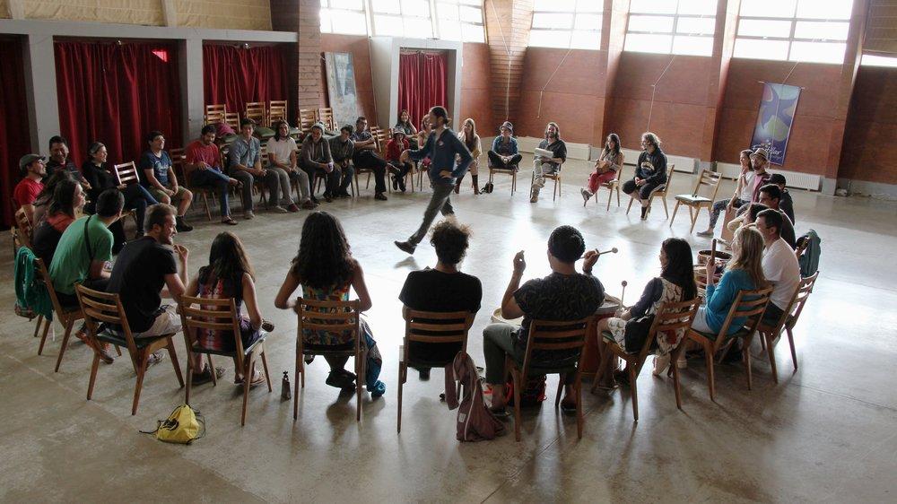 Círculo de Percusión 2017. Centro Comunitario de Pantanosa. Frutillar, Chile
