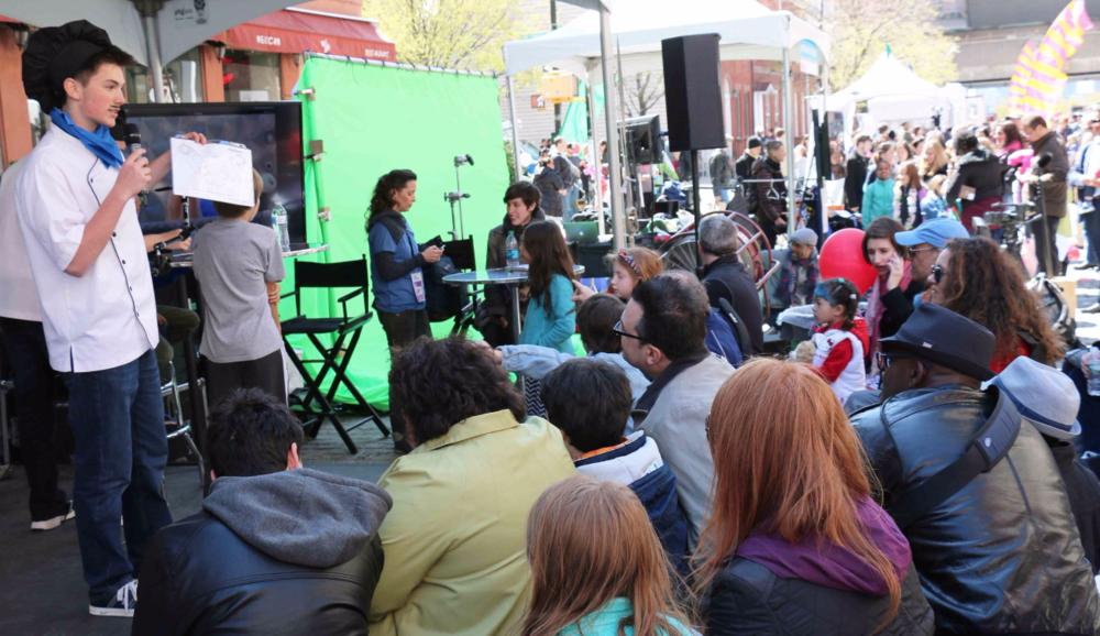 Animation Chefs presenting their secret recipes @ Tribeca Film Festival street fair in Manhattan