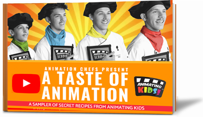 Our 46 Page eBook with 20+ Worksheets & 40+ Minutes of Video. A Sampler Plate from compete  Animating Kids site     .