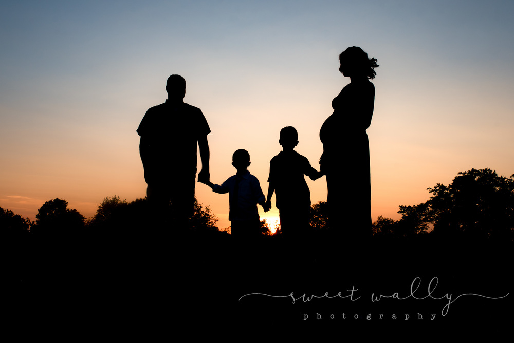 And one on the way! | Family Maternity Session | Sweet Wally Photography