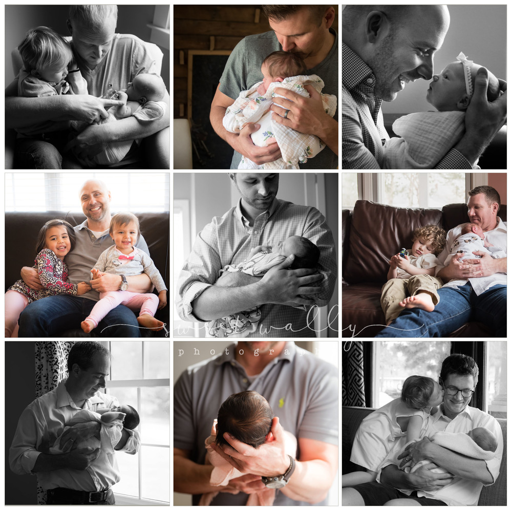 Three Cheers for Dads | Nashville Newborn Photographer | Sweet Wally Photography