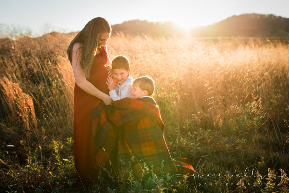Momma's boys with another on the way | Sweet Wally Photography | Nashville Maternity Photographer