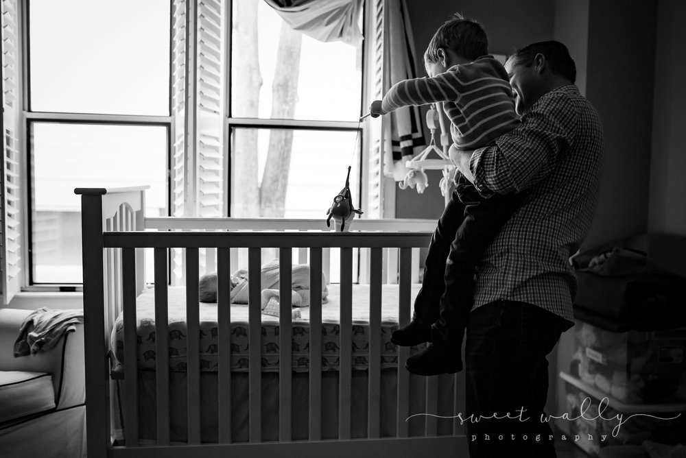 Play time! | Family newborn photos by Sweet Wally Photography | Nashville Newborn Photographer