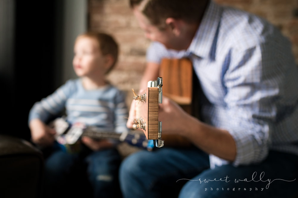 The family who jams together... | Family newborn photography by Sweet Wally Photography | Nashville Newborn Photography