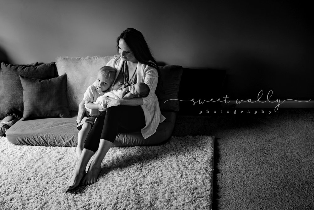 Mama with her baby boys | Sweet Wally Photography | Nashville Newborn Photographer | Bowling Green KY Newborn Photographer