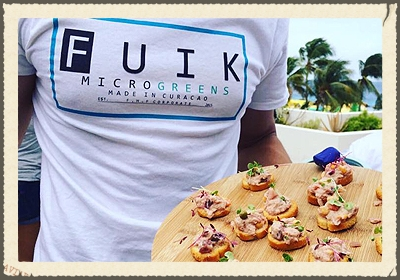 FUIK MICROGREENS   offers trendy seedlings known as microgreens. These tiny vegetable greens are used both as a visual and flavor component or ingredient primarily in fine dining. But sprouts are also a delicious way to get protein and vitamins.   https://www.facebook.com/fuikmicrogreens/?fref=ts