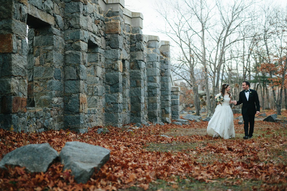 Cristina and Tom - Winter wedding at Granite Links in Quincy, MA