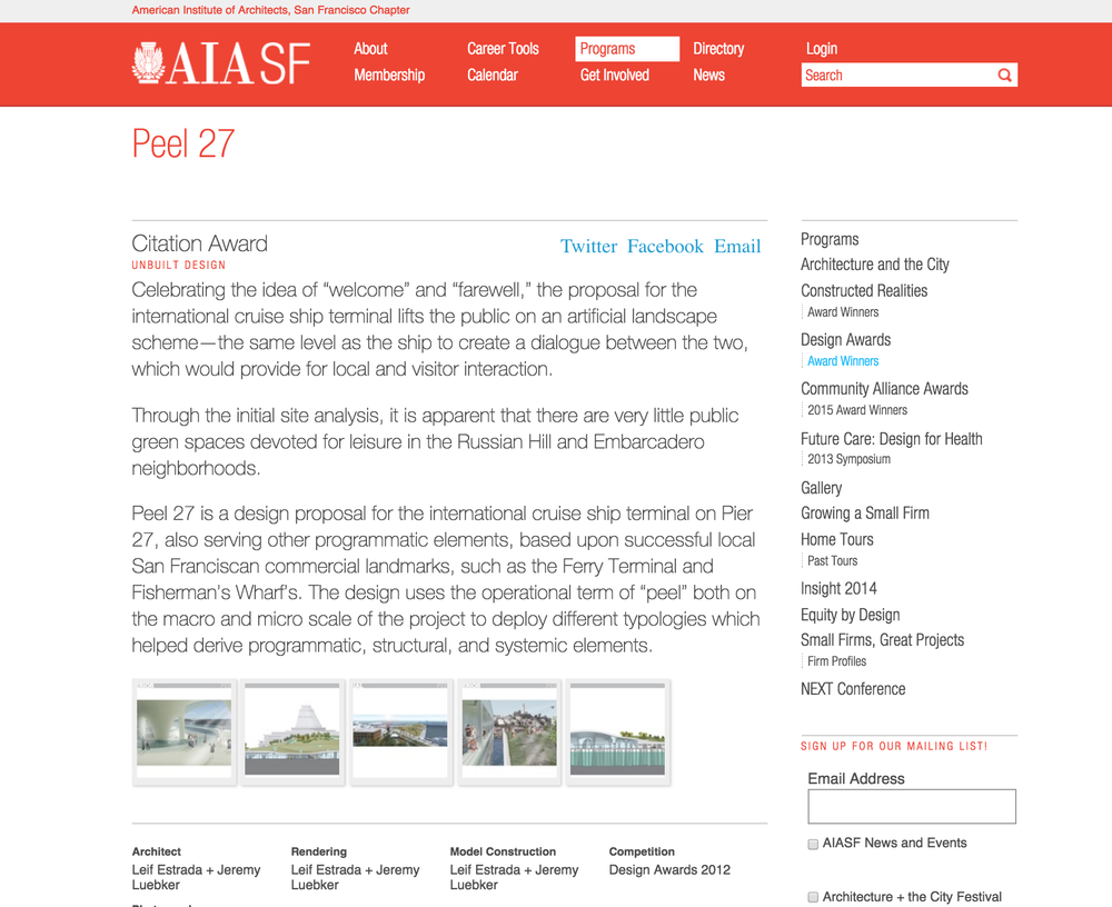Peel 27  , as featured on the American Institute of Architects - San Francisco's webpage
