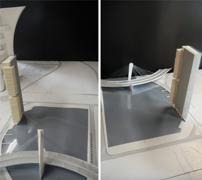 Conceptual Sketch Model of the tower design insitu