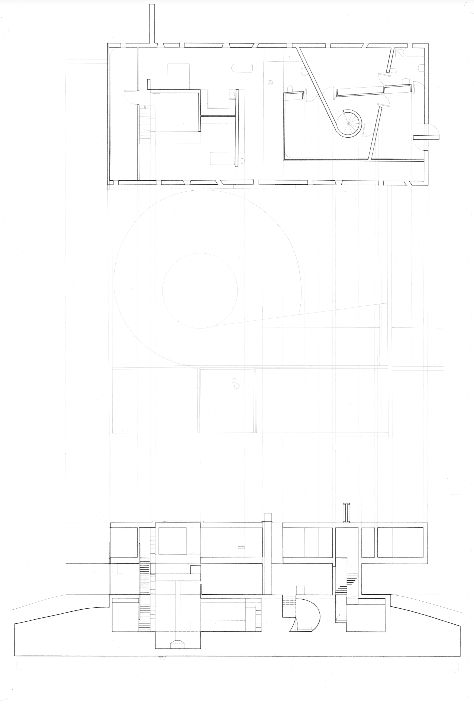 Third Floor Plan; Longitudinal Section