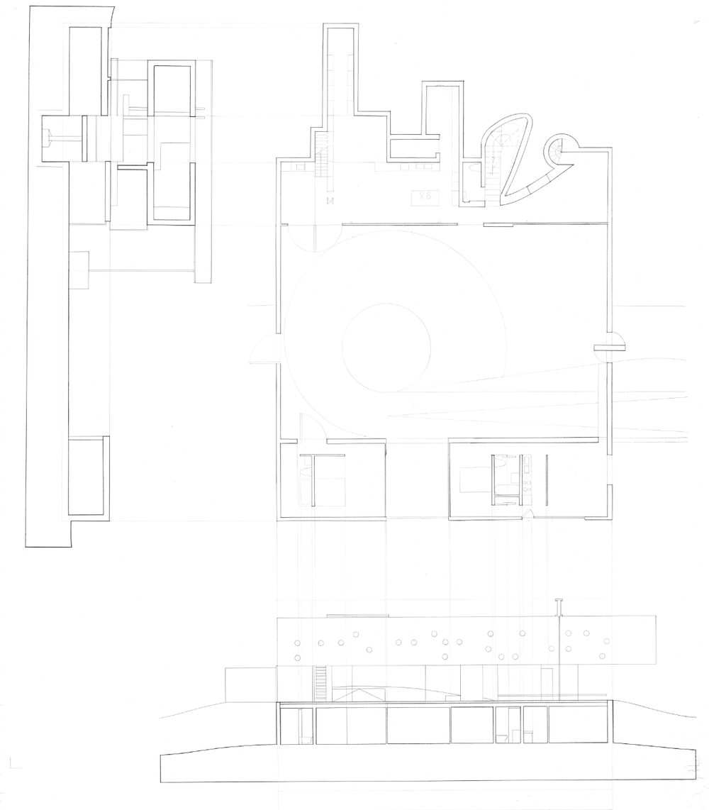 First Floor Plan; Front Elevation; Cross Section