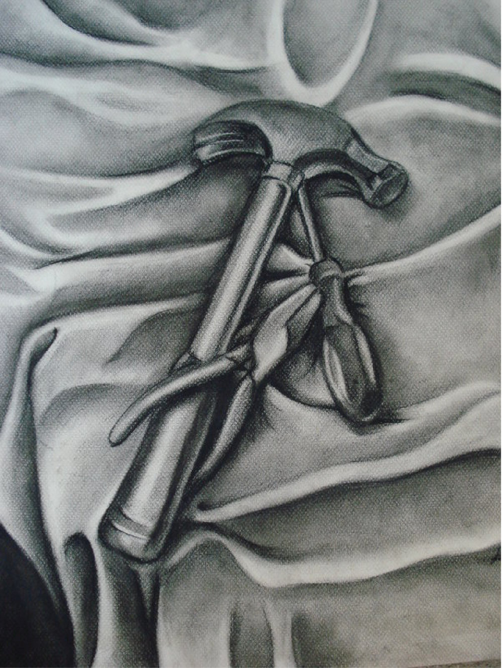 Tools, charcoal, 2007