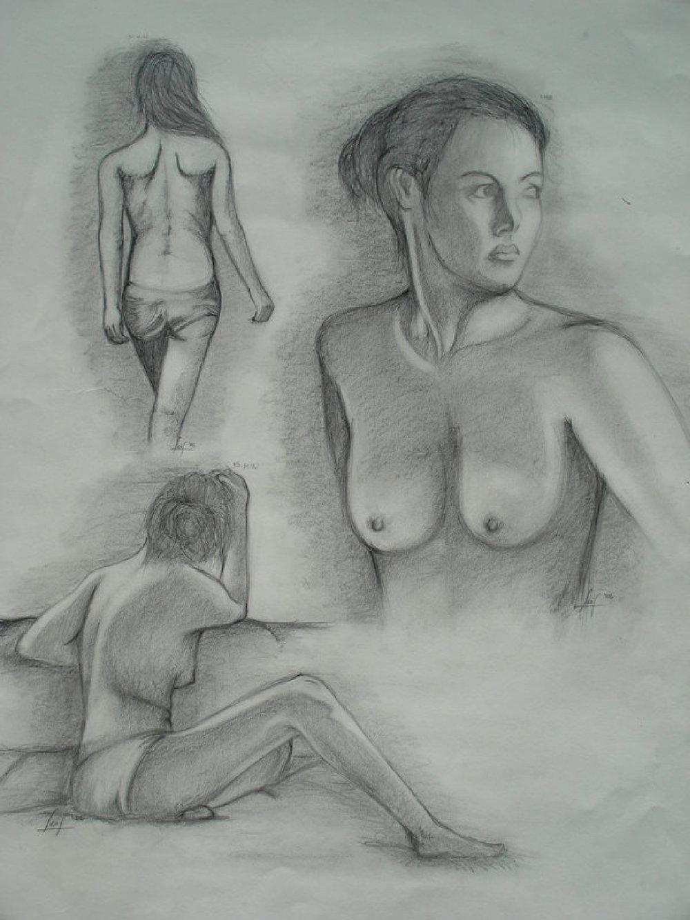 Nudes, graphite, 2006
