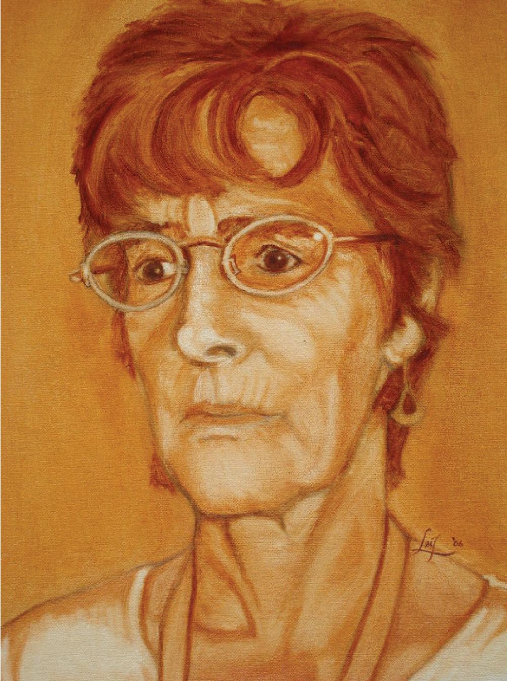 Señora Paradiro, burnt sienna oil, 2006