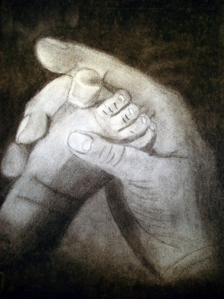 Gift, charcoal, 2003