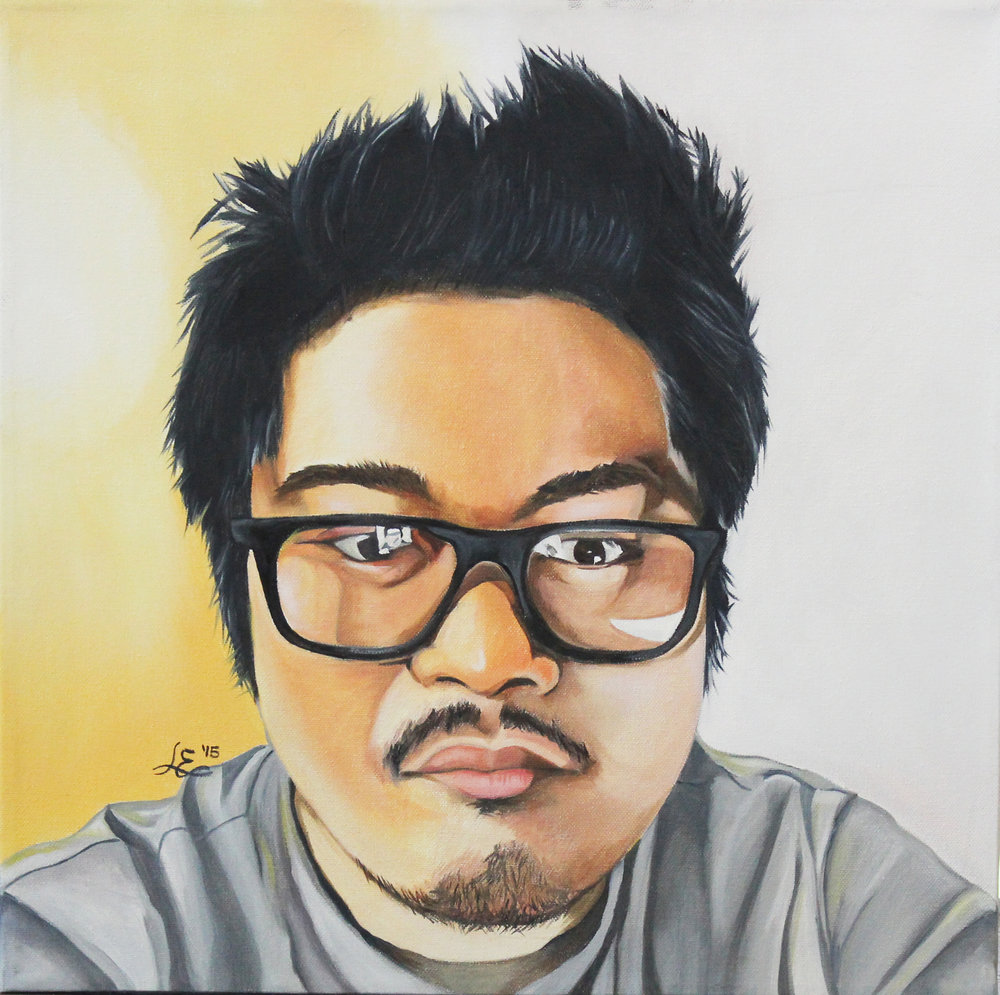 Self Portrait, oils, 2015
