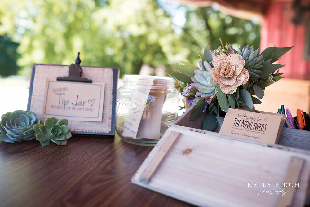 Succulents and Wedding Tip Jar