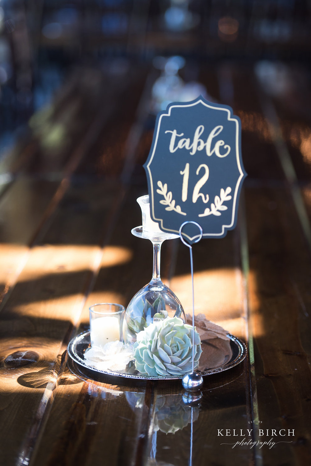 Table centerpieces and succulents