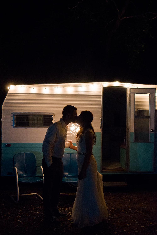 Sparkler wedding kiss | Kelly Birch Photography