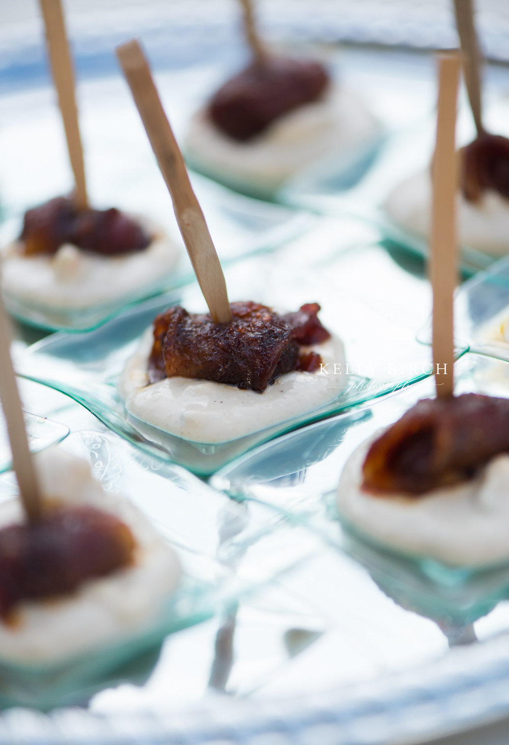 Small and simple but beautiful wedding appetizers | Photo by Kelly Birch Photography