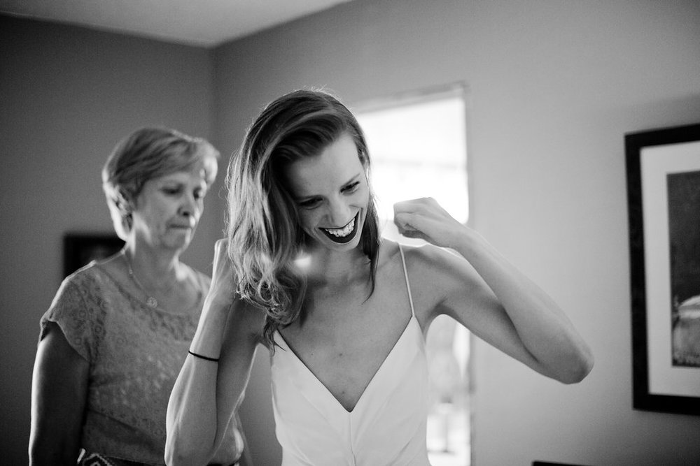 spaghetti strap low v modern wedding dress | Ashley Elwill Minneapolis Wedding Photographer