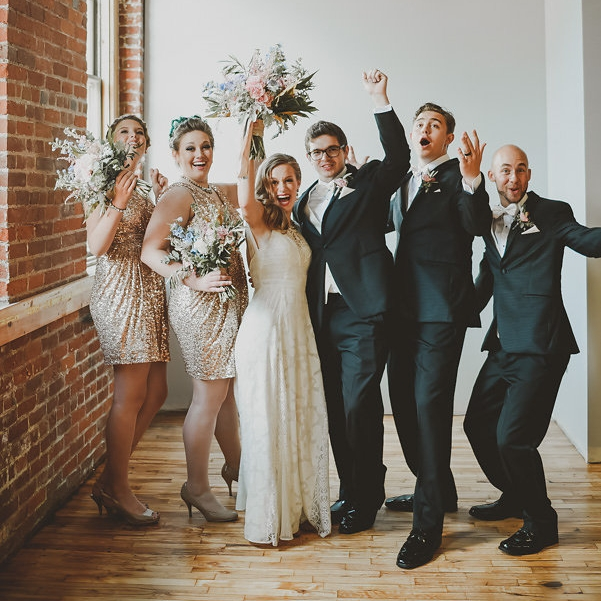 wedding party woo hoo picture | Ali Leigh Photography | Sixpence Events & Planning