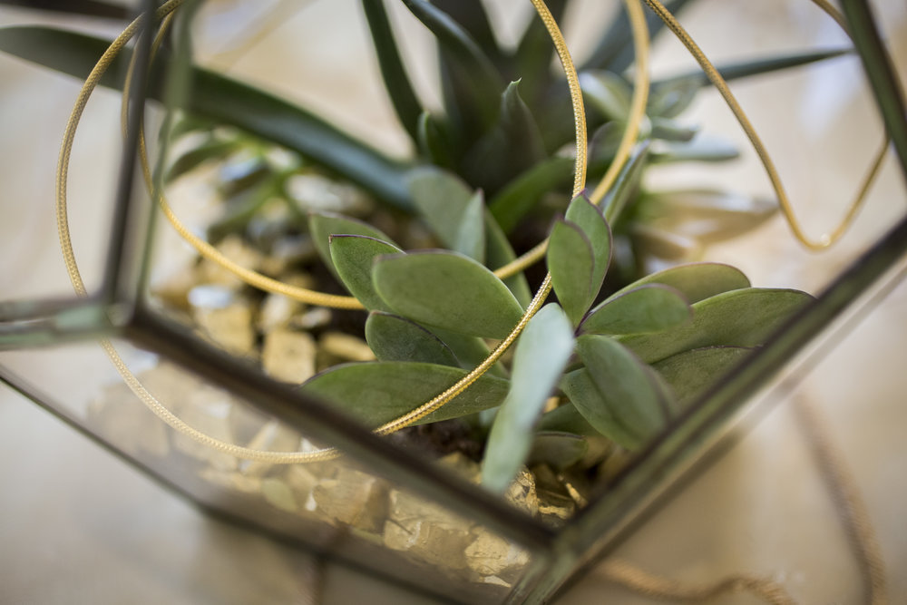 terrarium geo glass centerpiece with succulents by Rison Design | Courtney June Photography Minneapolis Wedding Photographer | Sixpence Events & Planning