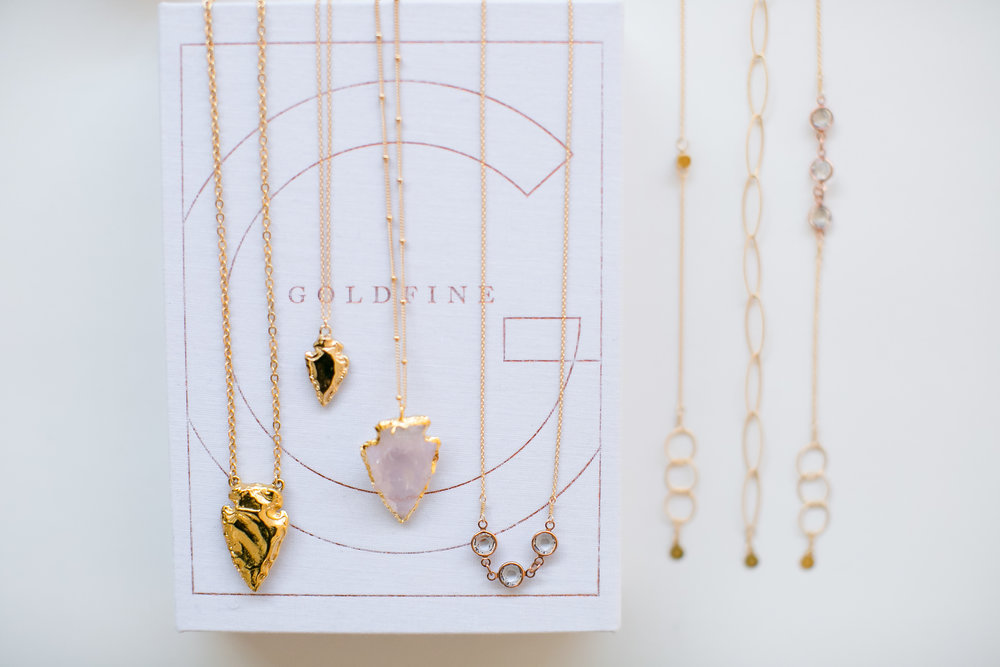 wedding jewelry for bridesmaids | Goldfine Jewelry in Minneapolis | Jeannine Marie Photography