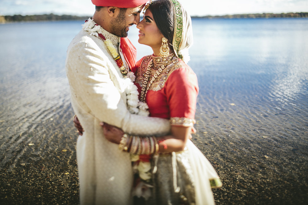 Brandon Werth Photography | Acowsay Cinema Videography | Modern Indian wedding by the lake in Minnesota