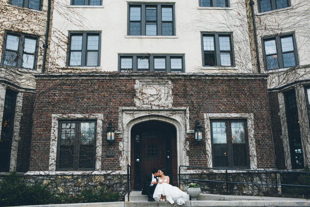 Mark Fierst Minneapolis Wedding Photographer | Sixpence Standard blog post | brick building in the backdrop