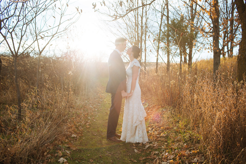 Alyssa Lee Minneapolis Wedding Photographer | Sixpence Standard wedding blog | bride and groom in a mowed pathway in the fields