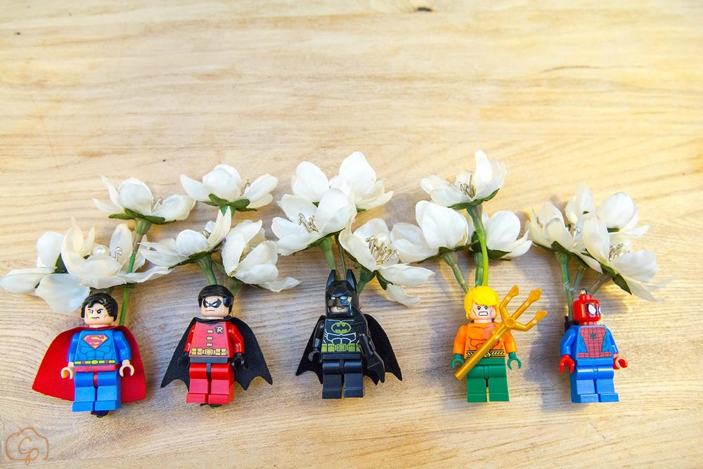 Lego superhero boutonnieres | Coppersmith Photography | Wedding blog