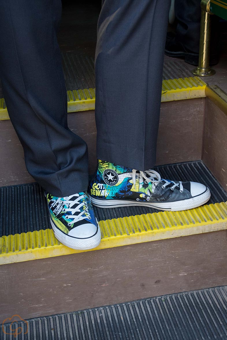 Custom grooms shoes with personality | Coppersmith Photography