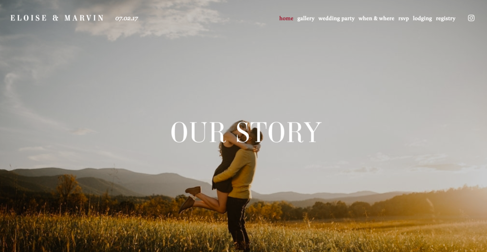 Eloise + Marvin wedding website | Photo by Aaron Thomas Photography