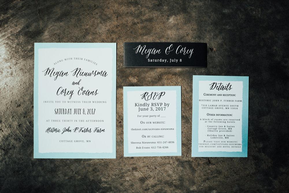 invitation suite | light blue | Janelle Elise | Megan + Corey | Furber Farm | Sixpence Events | A Vintage Touch Weddings25.jpg