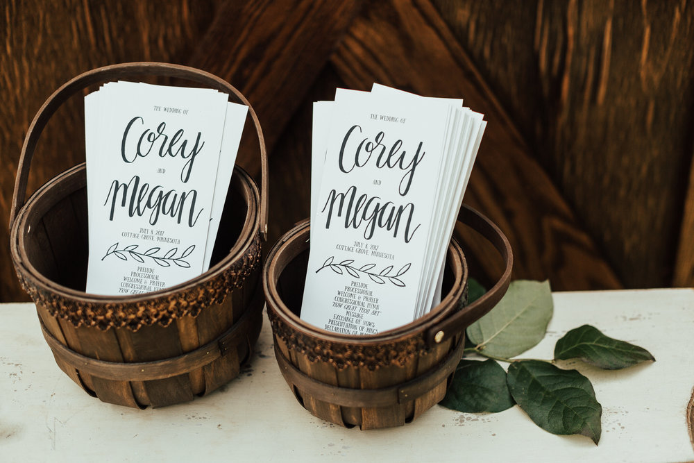 programs in baskets | Janelle Elise | Megan + Corey | Furber Farm | Sixpence Events | A Vintage Touch Weddings98.jpg