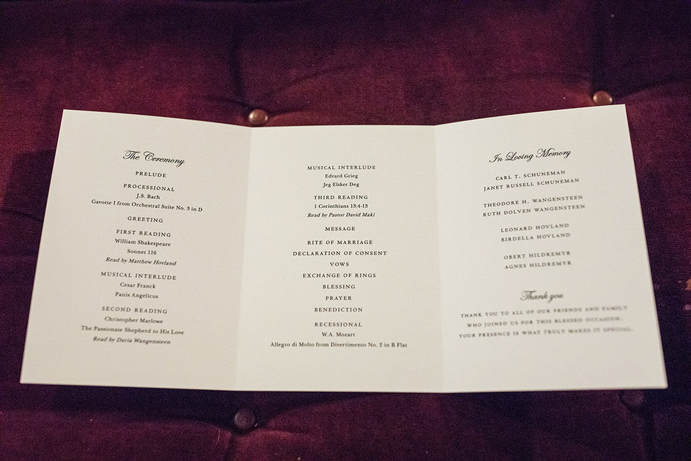 ceremony program trifold | Brian Bossany Photography | Sixpence Events & Planning wedding blog and day of coordinating