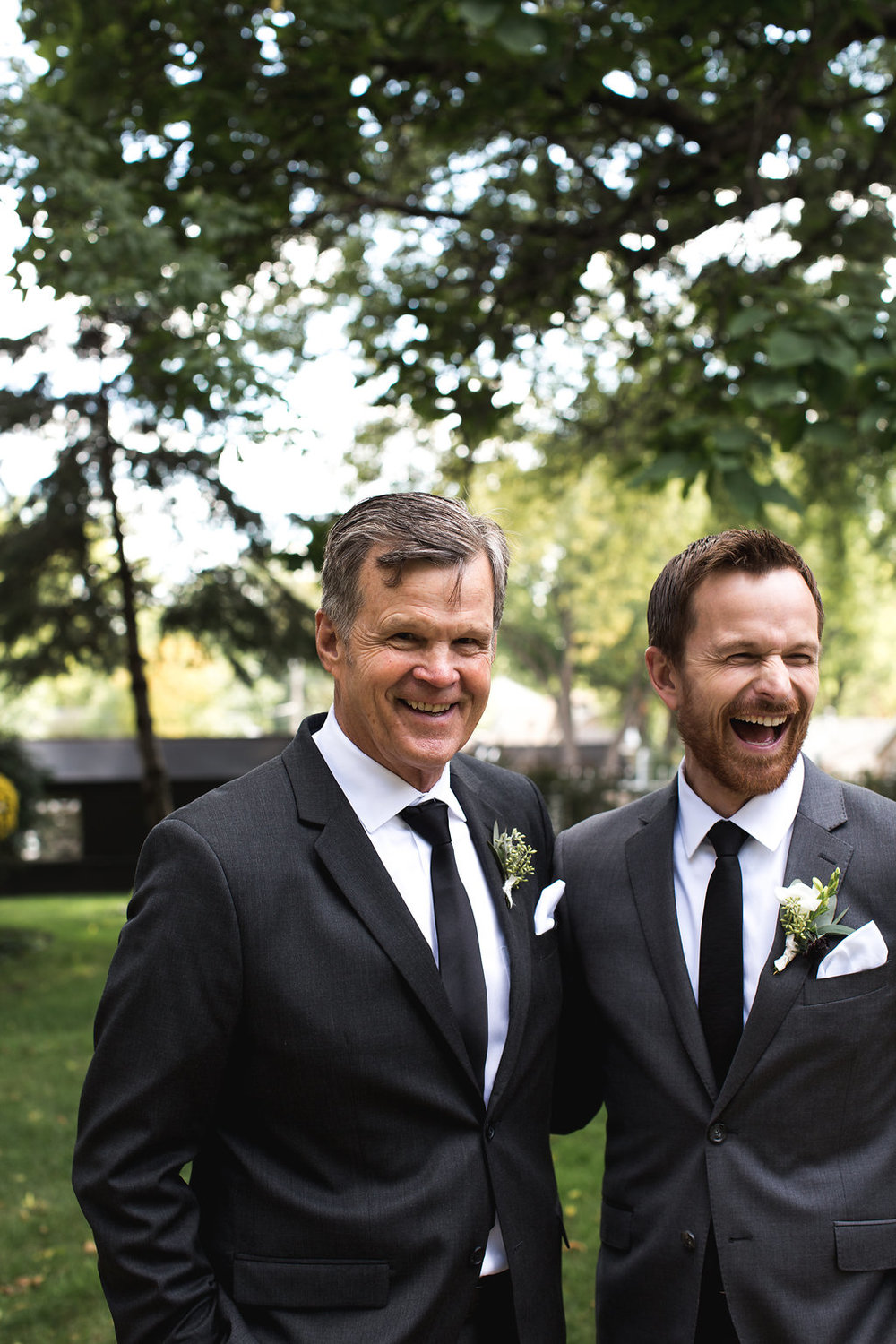 Aaron Rice Photography | Annunciation Church wedding | Groom and dad photo | Sixpence Events day of coordinating |