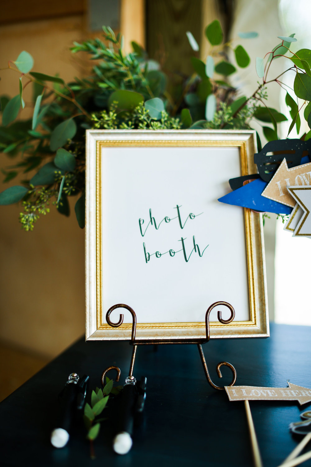 Jenna Kevin Wedding | Sixpence Events day of coordinating | Hannah Schmitt Photography | Legacy Hill Farm | photo booth sign
